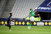 24th July 2020, Stade de France, Paris, France; French football Cup Final, Paris Saint Germain versus  St Ertienne;  Wesley Fofana ( 3 - Saint Etienne ) brings down a high ball