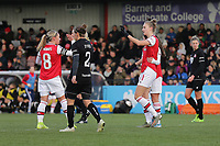 Vivianne Miedema of Arsenal scores the third goal for her team during Arsenal Women vs Bristol City Women, Barclays FA Women's Super League Football at Meadow Park on 1st December 2019