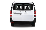 Straight rear view of 2016 Mercedes Benz Metris Cargo-Van 4 Door Cargo Van Rear View  stock images