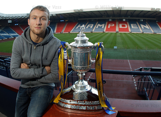 Dylan McGeough with the Scottish Cup