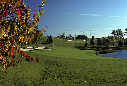 View of the 4th fairway at the National Golf Club in Woodbridge, Ontario, Canada. Photo: Brian Morgan/actionplus..courses general view views scene scenery spectacular clubs landscape venue Canadian fourth 122