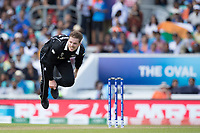 Lockie Ferguson (New Zealand) follows through during India vs New Zealand, ICC World Cup Warm-Up Match Cricket at the Kia Oval on 25th May 2019