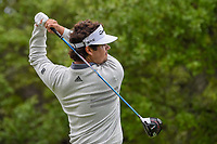 Beau Hossler (USA) watches his tee shot on 1 during day 4 of the Valero Texas Open, at the TPC San Antonio Oaks Course, San Antonio, Texas, USA. 4/7/2019.<br /> Picture: Golffile | Ken Murray<br /> <br /> <br /> All photo usage must carry mandatory copyright credit (© Golffile | Ken Murray)