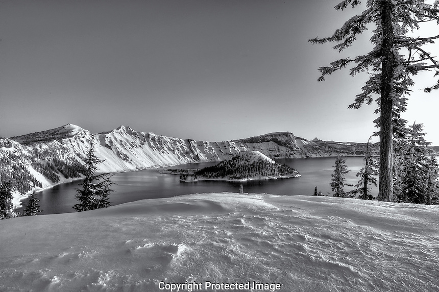 Winter In Crater Lake National Park, Oregon