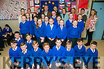 István S. Pálffy, Ambassador of Hungary to Ireland and Jimmy Deenihan visited  St Teresa NS Kilflynn on Friday as part of the Blue Flag Programme.Pictured Students with Laura Horgan, Sinead Hogan István S. Pálffy, Jimmy Deenihan,  Ambassador of Hungary to Ireland , son Marton Pálffy  Principal Mary Carroll  Judit Tóth, Ambassador wife, Ildiko Bajzt and Maria Cunningham
