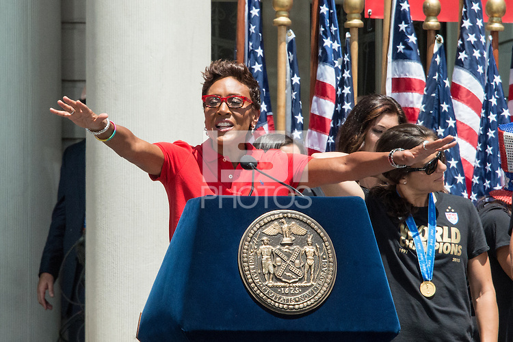 New York, New York -  July 10, 2015:  The USWNT Ticker Tape Parade