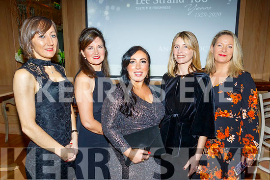 The Lee Strand social last Saturday night in the Ballygarry House hotel, Tralee was attended by L-R Maria Clifford, Shelia O'Mahony, Teresa Higgins, Martha Farrell and Grain Stack.