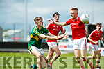 Diarmuid O'Connor Kerry in action against  Louth in the All Ireland Minor Football Quarter Finals at O'Moore Park, Portlaoise on Saturday.