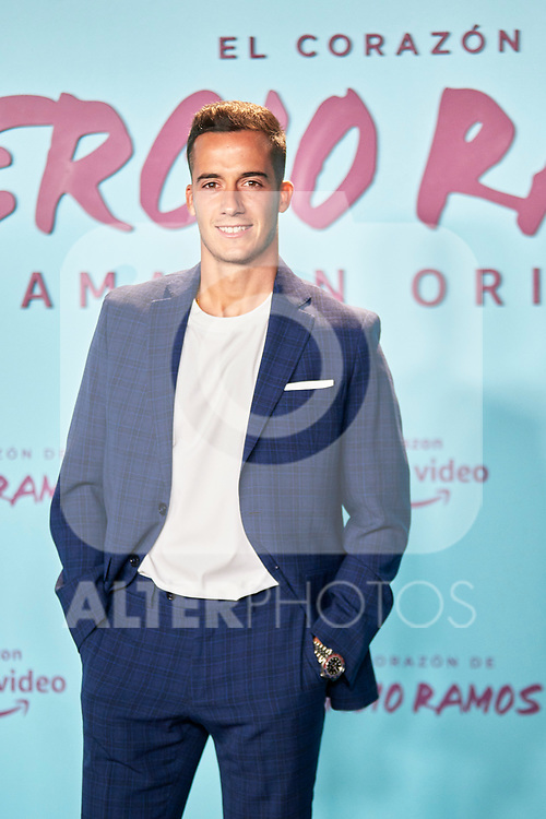 Lucas Vazquez in the world preview of EL CORAZÓN DE SERGIO RAMOS, documentary series about the life of the captain of Real Madrid and the Spanish Soccer Team, at the Reina Sofía Museum on September 10, 2019 in Madrid, Spain.<br />  (ALTERPHOTOS/Yurena Paniagua)