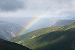 A rainbow in Norway's mountainous Jotunheimen National Park.