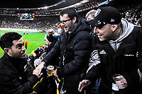 Nehe Milner-Skudder meets fans during the Steinlager Series international rugby match between the New Zealand All Blacks and France at Westpac Stadium in Wellington, New Zealand on Saturday, 16 June 2018. Photo: Dave Lintott / lintottphoto.co.nz
