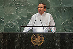 DSG meeting<br /> <br /> AM Plenary General DebateHis<br /> <br /> <br /> His Excellency Maithripala SIRISENA President of the Democratic Socialist Republic of Sri Lanka