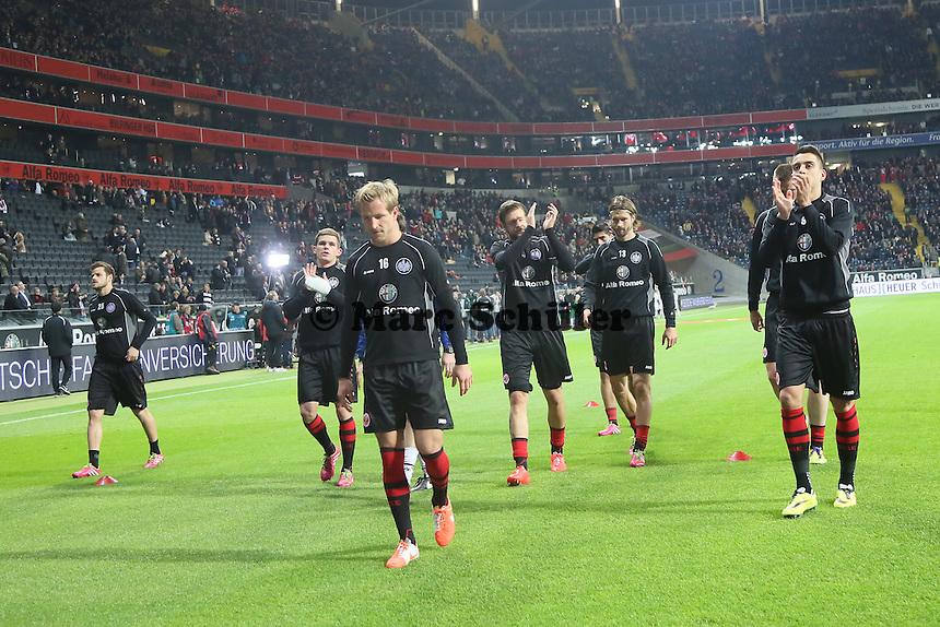 Eintracht begrüßt die Fans - Eintracht Franfurt vs. Borussia Mönchengladbach, Commerzbank Arena