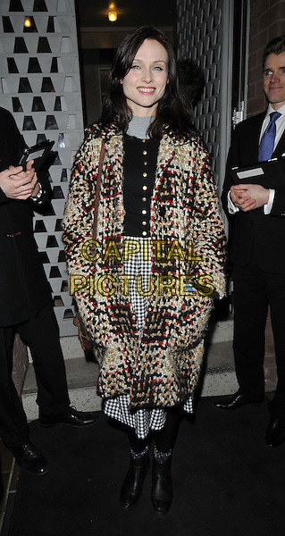 LONDON, ENGLAND - FEBRUARY 04: Sophie Ellis Bextor attends the Ron Gorchov exhibition VIP private view, S2, St George St., on Wednesday February 04, 2015 in London, England, UK. <br /> CAP/CAN<br /> &copy;Can Nguyen/Capital Pictures