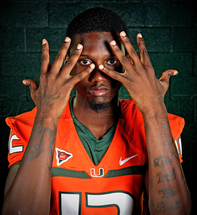 The University of Miami Hurricanes football quarterback Jacory Harris on Saturday, August 8, 2009.