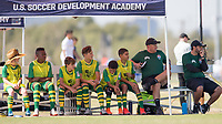 Dallas, TX - October 20, 2019: U.S. Soccer Development Academy Boys' U-14 Fall Central Regional Showcase at MoneyGram Soccer Park.