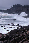 Crashing waves at Cape Egmont, Cape Breton Island, Nova Scotia, Canada