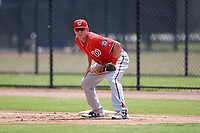 Washington Nationals Ian Sagdal (13) during a Minor League Spring Training game against the Miami Marlins on March 28, 2018 at FITTEAM Ballpark of the Palm Beaches in West Palm Beach, Florida.  (Mike Janes/Four Seam Images)