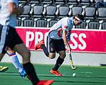 AMSTELVEEN - Casper Horn (Adam)    tijdens  de hoofdklasse competitiewedstrijd hockey heren,  Amsterdam-SCHC (3-1).  COPYRIGHT KOEN SUYK