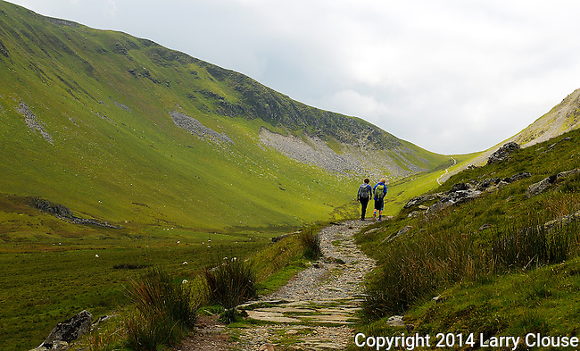 June 2014:  Wales, UK.   Hiking near Llanberis in Snowdonia National Park, Wales.
