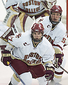 Joe Rooney, Tim Filangieri - The Boston College Eagles and University of New Hampshire earned a 3-3 tie on Thursday, March 2, 2006, on Senior Night at Kelley Rink at Conte Forum in Chestnut Hill, MA.  Boston College honored its three seniors, captain Peter Harrold and alternate captains Chris Collins and Stephen Gionta, before the game.