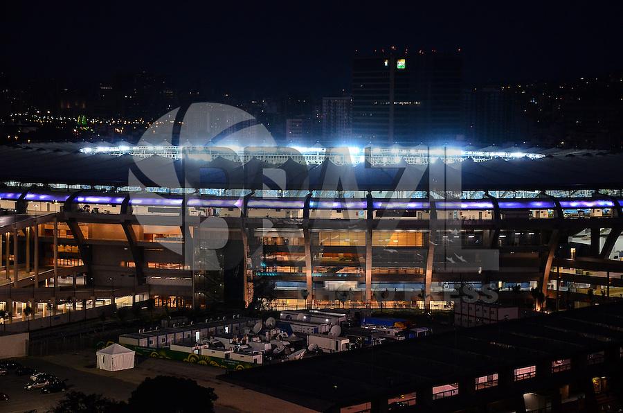 RIO DE JANEIRO, RJ, 29 DE JUNHO DE 2013 -VISTA AÉREA DO MARACANÃ- Vista aérea do estádio do Maracanã que, palco da final da Copa das Confederações com o jogo Brasil x Espanha, neste sábado 29 de junho, na zona norte do Rio de Janeiro.FOTO:MARCELO FONSECA/BRAZIL PHOTO PRESS
