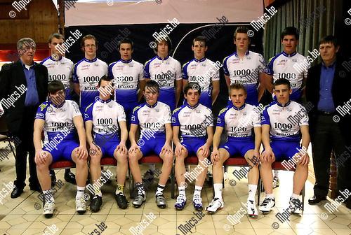 2010-02-12 / Wielrennen / Voorstelling Edegem Bicycle Club 2010 / Junioren / ..Foto: mpics