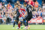 Antoine Griezmann (c) of Atletico de Madrid competes for the ball with Carlos Henrique Casemiro of Real Madrid during their 2016-17 UEFA Champions League Semifinals 2nd leg match between Atletico de Madrid and Real Madrid at the Estadio Vicente Calderon on 10 May 2017 in Madrid, Spain. Photo by Diego Gonzalez Souto / Power Sport Images
