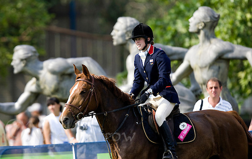 31 MAY 2008 - BUDAPEST, HUN - Georgina Harland (GBR) begins what would be a clear round during the showjumping discipline - Modern Pentathlon World Championships. (PHOTO (C) NIGEL FARROW)