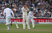 England's Mark Wood shows his dejection as he concedes runs to South Africa's Temba Bavuma<br /> <br /> Photographer Stephen White/CameraSport<br /> <br /> Investec Test Series 2017 - Second Test - England v South Africa - Day 1 - Friday 14th July 2017 - Trent Bridge - Nottingham<br /> <br /> World Copyright &copy; 2017 CameraSport. All rights reserved. 43 Linden Ave. Countesthorpe. Leicester. England. LE8 5PG - Tel: +44 (0) 116 277 4147 - admin@camerasport.com - www.camerasport.com