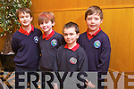 Morgan O'Connell, Cian Ziglinski, Austin O'Brian and Barry O'Connell from Listellick NS at the Tralee Credit Union Primary Schools Quiz, held at Ballyroe Heights Hotel on Sunday