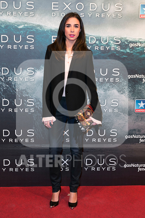"""attend the Premiere of the movie """"EXODUS: GODS AND KINGS"""" at callao Cinema in Madrid, Spain. December 4, 2014. (ALTERPHOTOS/Carlos Dafonte)"""