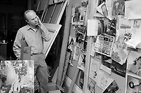 James Rosenquist in his studio