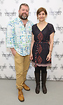 Director Peter DuBois and playwright Gina GIonfriddo  attend the photo call for The Vineyard Theatre production of 'Can You Forgive Her' at the New 42nd Street Studios on April 3, 2017 in New York City.