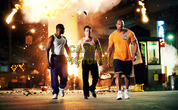 Anthony Mackie, Mark Wahlberg, Dwayne &quot;The Rock&quot; Johnson <br /> in Pain &amp; Gain (2013) <br /> *Filmstill - Editorial Use Only*<br /> CAP/FB<br /> Supplied by Capital Pictures