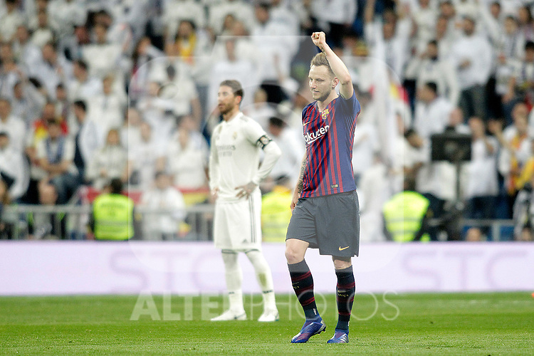 FC Barcelona's Ivan Rakitic celebrates goal during La Liga match. March 02,2019. (ALTERPHOTOS/Alconada)