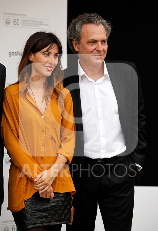 Jose Coronado and Barbara Goenaga during the 61 San Sebastian Film Festival, in San Sebastian, Spain. September 20, 2013. (ALTERPHOTOS/Victor Blanco)