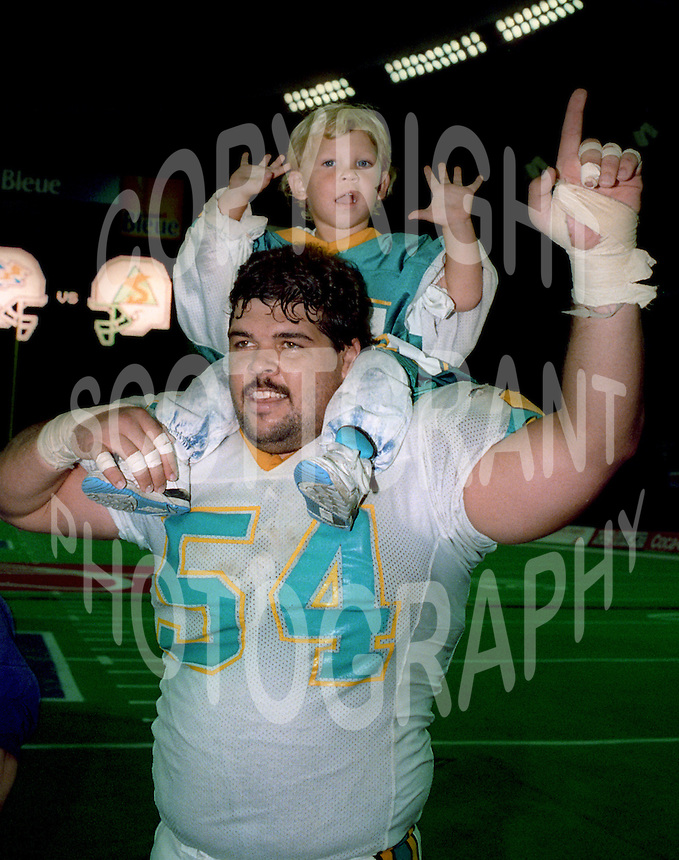 Byron Forsythe Sacramento Surge World Bowl 1992. Photo F. Scott Grant