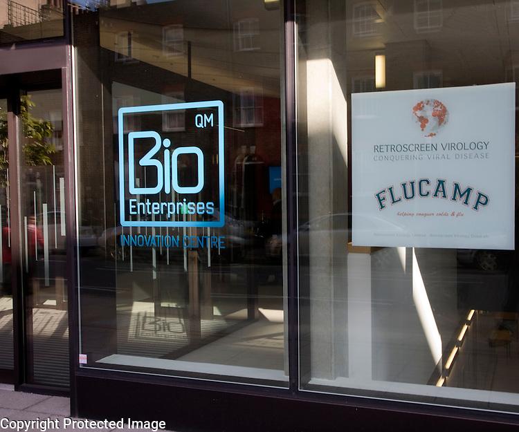 Bio Enterprises Flucamp retroscreen virology Innovation Centre, Whitechapel, London, England