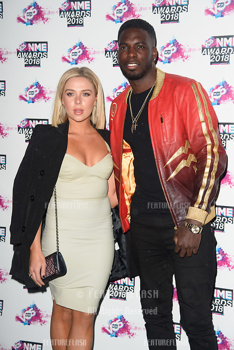 Gaby Allen & Marcel Sommerville at the VO5 NME Awards 2018 at the Brixton Academy, London, UK. <br /> 14 February  2018<br /> Picture: Steve Vas/Featureflash/SilverHub 0208 004 5359 sales@silverhubmedia.com