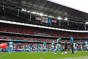 1st October 2017, Wembley Stadium, London, England; NFL International Series, Game Two; Miami Dolphins versus New Orleans Saints; Miami Dolphins warm up