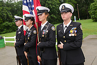 Michael McCollum<br /> 8/2/18<br /> The Bearden High School Cadets at the reveal ceremony where it was announced to 13 year old Ryan Overman of west Knoxville that The Wish Connection is granting Ryan&rsquo;s wish to go to Washington DC and visit the White House at Carl Cowan Park, 10058 S Northshore Dr, Knoxville, TN&nbsp;, Thursday, August 2, 2018 at 5:45pm. Approximately 50-60 people attended, including the Overman family, friends, and AT&amp;T Employees. The Bearden High School Cadets also attended and lead the pledge of allegiance.<br /> &nbsp;The AT&amp;T Wish Connection is going to send Ryan, his family, and his service dog to Washington DC and while they are gone, the group of volunteers will be doing a makeover on his bedroom and turn it into the &quot;Oval Office&quot; at the White House.<br /> Ryan was born two weeks prematurely on May 13, 2005.&nbsp; During the pregnancy he was classified as high risk due to a measured lack of growth and, after a brief stay in the hospital, he came home weighing only 4 lbs 5 oz.&nbsp; His development was much slower compared to his peers, such as not learning to walk until he was well over a year old, and he was much smaller. The Overman family worked with Tennessee Early Intervention Services (TEIS) when Ryan was about one year old and with their help they were able to get Ryan enrolled through TEIS to receive Occupational, Physical, and Speech Therapy.&nbsp; When Ryan turned three he transitioned from TEIS to the Knox County Early Intervention Program and began attending a special school to continue his therapies until he was old enough to enroll at Cedar Bluff Elementary and now is at Cedar Bluff Middle School. In 2016, Ryan was diagnosed to have retinitis pigmentosa, a degenerative disease of the retinas that under the best of circumstances causes severe tunnel vision, but more commonly results in complete blindness.<br /> &nbsp;Despite the physical difficulties that Ryan has had to endure over the last thirteen years, he continually brightens the lives of those around him.&nbsp; If someone is h