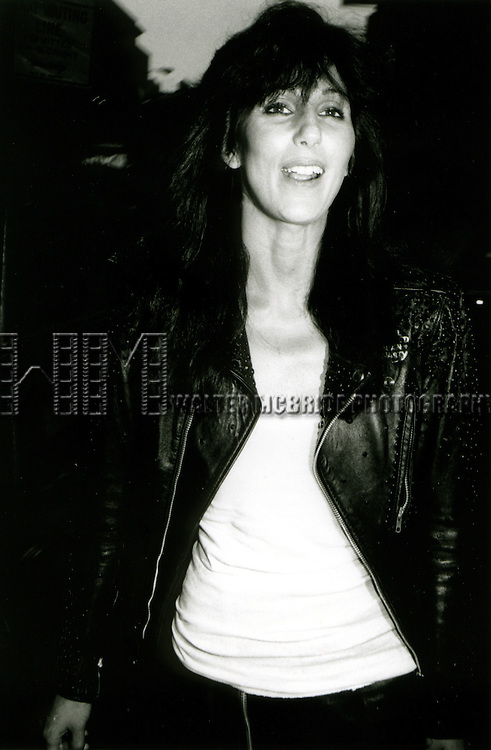Cher 1986.ATTENDS THE TONY AWARDS,.NEW YORK CITY.CREDIT ALL USES.