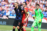 08.06.2019., stadium Gradski vrt, Osijek - UEFA Euro 2020 Qualifying, Group E, Croatia vs. Wales. Domagoj Vida, Gareth Bale. <br /> <br /> Foto © nordphoto / Davor Javorovic/PIXSELL