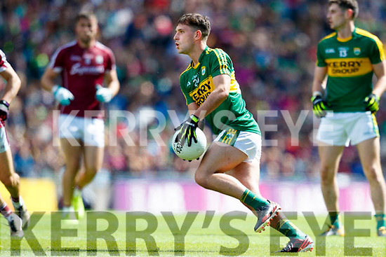 Jack Savage Kerry in action against  Galway in the All Ireland Senior Football Quarter Final at Croke Park on Sunday.