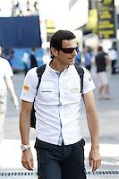 23.06.2012. Valencia, Spain. FIA Formula One World Championship 2012 Grand Prix of Europe. The picture show Pedro de la Rosa (Spanish driver of Hispania Racing)
