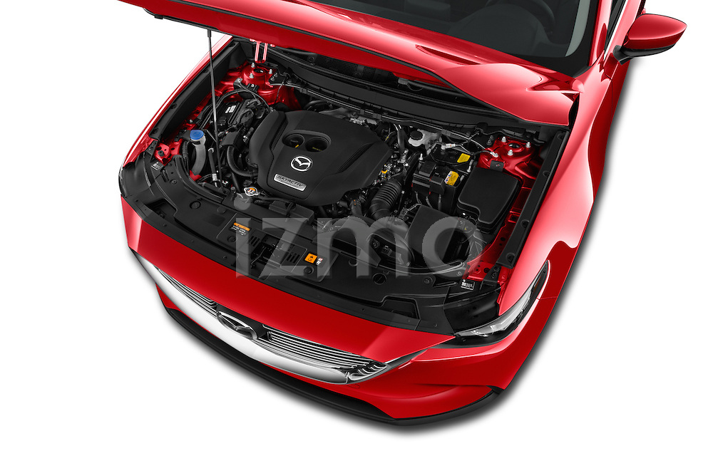 Car Stock 2016 Mazda CX-9 Touring-FWD 5 Door SUV Engine  high angle detail view