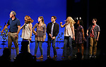 Michael Park, Jennifer Laura Thompson, Laura Dreyfuss, Rachel Bay Jones, Kristolyn Lloyd and Ben Levi Ross with Taylor Trensch takes his bows as the newest Evan in 'Dear Evan Hansen' on Broadway at the Music Box Theatre on February 6, 2018 in New York City.