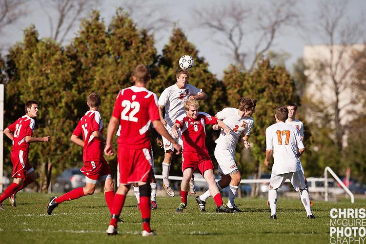 10/11/11 - Kalamazoo, MI: Kalamazoo College Men's soccer vs Olivet.  Olivet won the game 2-0.  Photo by Chris McGuire.