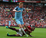 Kevin De Bruyne of Manchester City has a shot during the Premier League match at Old Trafford Stadium, Manchester. Picture date: September 10th, 2016. Pic Simon Bellis/Sportimage